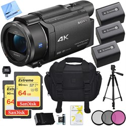 Sony FDR-AX53/B 4K Handycam Camcorder with Exmor R CMOS S...