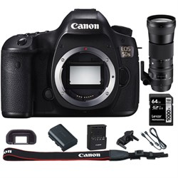 Canon EOS 5DS 50.6MP Digital SLR Camera (Body) + 150-600m...