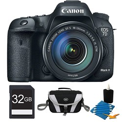 Canon EOS 7D Mark II Digital SLR Camera with 18-135mm IS STM Lens 32GB Bundle