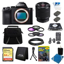 Sony A7R (Alpha 7R) Interchangeable Lens Camera Body 28-70mm Lens Bundle E10SNILCE7RB