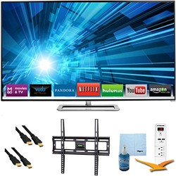 Vizio 60-inch 1080p 240Hz 3D LED Smart HDTV Plus Mount & Hook-Up Bundle - M601D-A3R