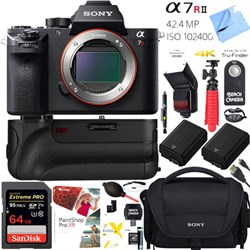 Sony a7R II 42.4MP Full-frame Mirrorless Camera Body + 64...