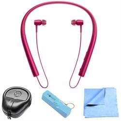 Sony Wireless In-ear Bluetooth Headphones w/ NFC - Bordeaux Pink w/ Power Bank Bundle E1SNMDREX750P