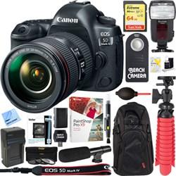 Canon EOS 5D Mark IV DSLR Camera + EF 24-105mm IS II USM ...