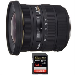 Sigma 10-20mm F3.5 EX DC HSM A-Mount Lens for Sony with S...