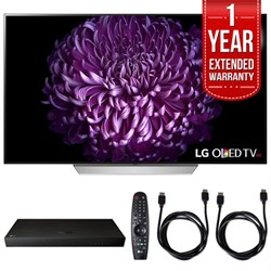 "LG 55"""" C7P OLED 4K HDR Smart TV w/ Blu-ray Player + Extented Warranty Bundle"" E10LGOLED55C7P"