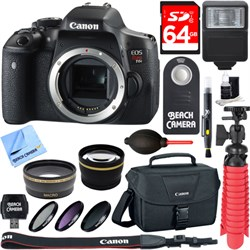 Canon EOS Rebel T6i Digital SLR Camera Body Memory & Flas...