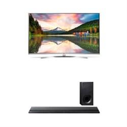 """LG 65"""""""" 4K Super UHD HDR 240Hz Smart 3D LED + Sony HTCT390 Soundbar with Subwoofer"""" E4LG65UH8500"""