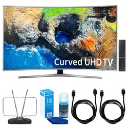 "Samsung 48.5"" Curved 4K UHD Smart LED TV (2017 Model) w/ ..."