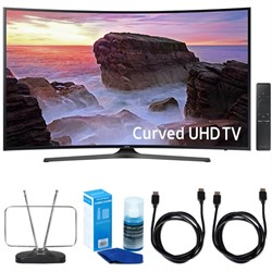 "Samsung Curved 55"" 4K UHD Smart LED TV (2017 Model) w/ TV..."