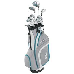 Wilson Sports Women's 2015 Ladies Profile XLS Complete Package Golf Set, Teal