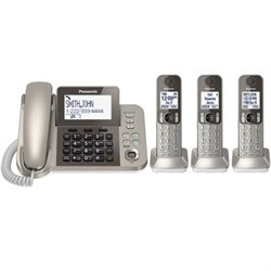 Click here for Panasonic Corded Phone with 3 Cordless Handsets -... prices