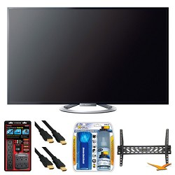 Sony KDL-55W802A 55 W802 Series LED 3D Internet HDTV Wall Mount Bundle