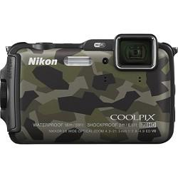 Nikon COOLPIX AW120 16MP  Waterproof Shockproof Freezeproof Camo Camera Refurbished