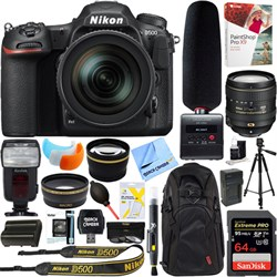 Nikon D500 20.9MP DSLR Camera + 16-80mm Lens & Tascam DR-...