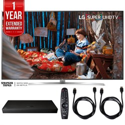 "LG SUPER UHD 75"""" 4K HDR Smart LED TV w/ Blu-ray Player + Extented Warranty Bundle"" E10LG75SJ8570"