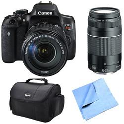 Canon EOS Rebel T6i Digital SLR Camera with 18-135mm STM and 75-300mm Lens Bundle