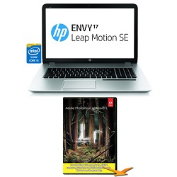 Hewlett Packard Envy 17.3 17-j150nr Leap Motion SE Notebook PC - Photoshop Lightroom Bundle