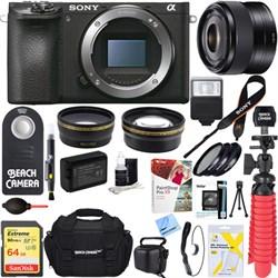 Sony ILCE-6500 a6500 4K Mirrorless Camera Body w/ 35mm Pr...