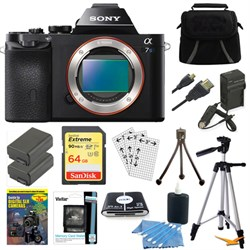 Sony ILCE-7S/B a7S Full Frame Camera w/ 64GB SDXC Cards &...