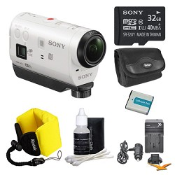 Sony HDR-AZ1/W POV HD Camcorder 32GB Bundle