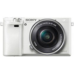 Sony Alpha a6000 White Interchangeable Lens Camera with 1...