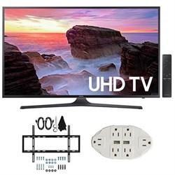 "Samsung 43"" 4K Ultra HD Smart LED TV (2017 Model) w/ Wall..."