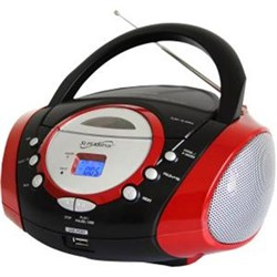 Click here for Supersonic Portable MP3 CD Player in Red - SC - 50... prices
