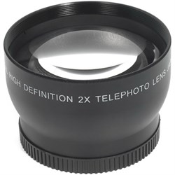 General Brand Pro 2x Telephoto Conversion Lens with 58mm threading (Black) - XT2X58 GEN2X58