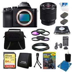 Sony Alpha 7 a7 Full-Frame Interchangeable Lens Digital Camera 28-70mm Lens Bundle E10SNILCE7B