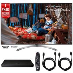 "LG SUPER UHD 55"""" 4K HDR Smart LED TV w/ Blu-ray Player + Extented Warranty Bundle"" E10LG55SJ8500"
