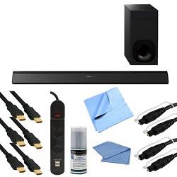 Sony HT-CT380 - 2.1ch 300w Bluetooth Sound Bar w/ Wireless Subwoofer & Hook-Up Bundle