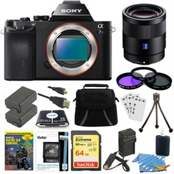 Sony ILCE-7S/B a7S Full Frame Camera, 55mm Lens, 64GB SDX...