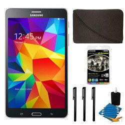 Samsung Galaxy Tab 4 Black 8GB 7 Tablet and Case Bundle