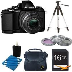 Olympus OM-D E-M10 Mirrorless Micro Four Thirds Digital Camera w/ 14-42mm Lens Black Kit