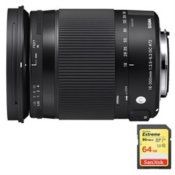 Sigma 18-300mm F3.5-6.3 DC Macro OS HSM Lens for Canon EF Ca