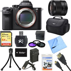 Sony a7R II Full-frame Mirrorless Interchangeable 42.4MP Camera Body 28mm Lens Bundle E10SNILCE7RM2B