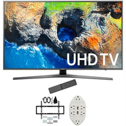 "Samsung 48.5"" 4K Ultra HD Smart LED TV 2017 Model with Wall Mount Bundle"