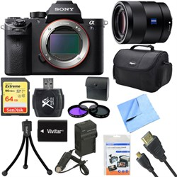 Sony a7S II Full-frame Mirrorless Interchangeable Lens Camera Body 55mm Lens Bundle E5SNILCE7SM2B