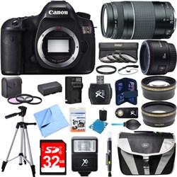 Canon EOS 5DS 50.6MP Digital SLR Camera w/ 50mm + 75-300m...