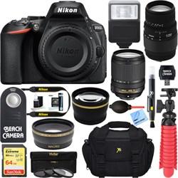 Nikon D5600 24.2 MP DSLR Camera w/ AF-S 18-140mm ED VR & ...
