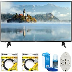 LG 43 inch Full HD 1080p LED TV 2017 Model 43LJ5000 with Cleaning Bundle
