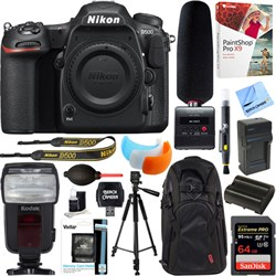 Nikon D500 20.9MP DSLR Camera Body + Tascam DR-10SG Recor...