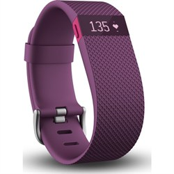 Fitbit Charge HR Wireless Activity Wristband, Plum, Large FITBITFB405PML