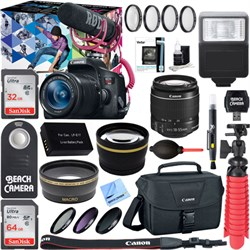 Canon EOS Rebel T6i Video Creator w/ 18-55mm Lens, Rode V...