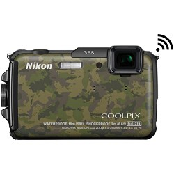 Nikon COOLPIX AW110 16MP Waterproof Camouflage Digital Camera - Factory Refurbished