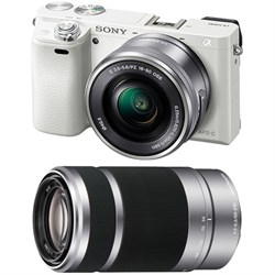 Sony Alpha a6000 Mirrorless Camera w/ 16-50mm & 55-210mm ...