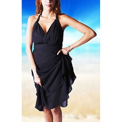 Iris Impressions 100 Way Wrap Skirt Dress, Solid Black (One Size) IRISSOLID