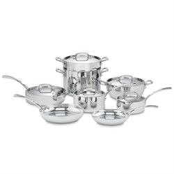 Cuisinart French Classic Tri-Ply Stainless 13-Piece Cookw...