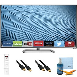 Vizio M602i-B - 60-Inch 1080p 240Hz WiFi Smart LED HDTV Plus Hook-Up Bundle